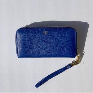 CLASSIC Fossil 'SIDNEY' zip clutch